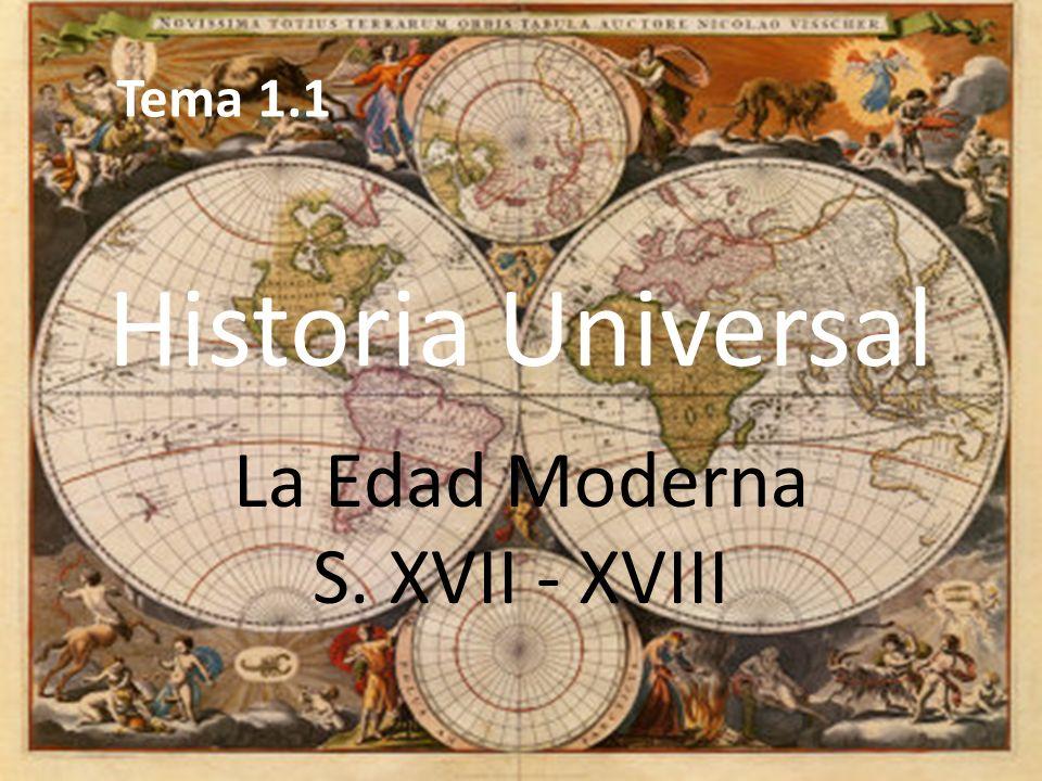 La Edad Moderna S. XVII - XVIII