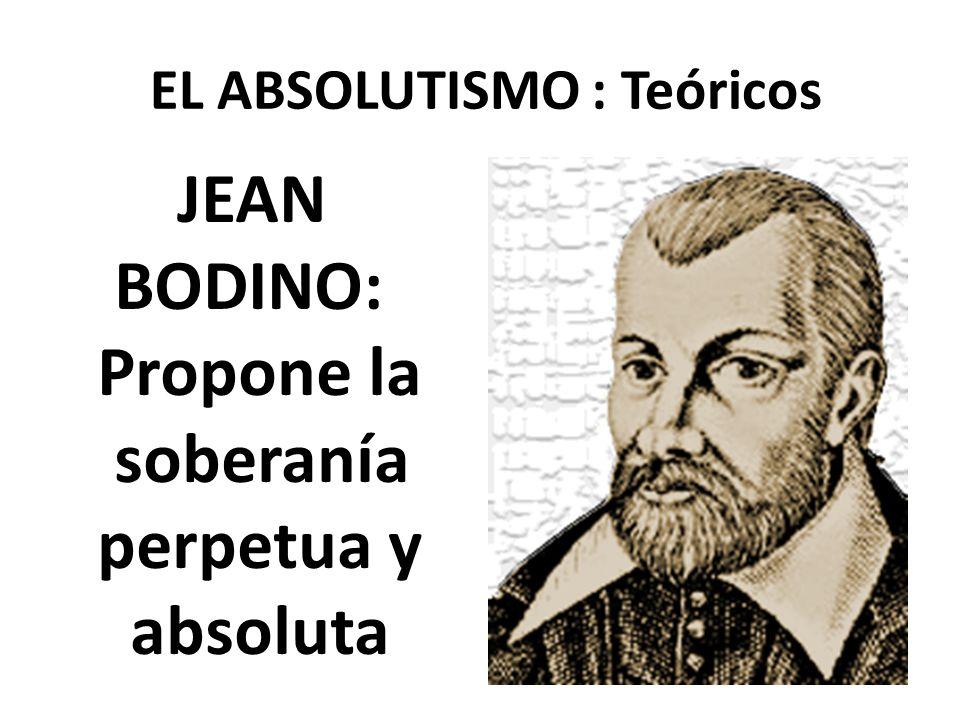 EL ABSOLUTISMO : Teóricos