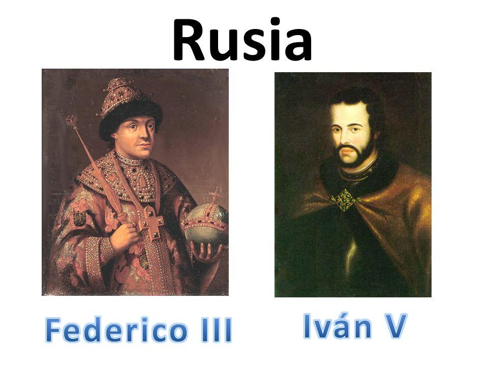 Rusia Iván V Federico III