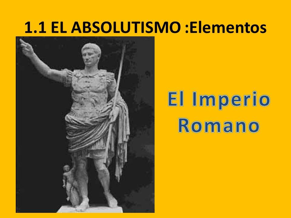 1.1 EL ABSOLUTISMO :Elementos