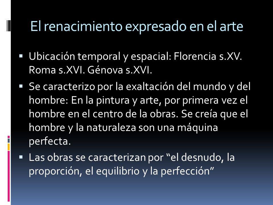 El renacimiento expresado en el arte