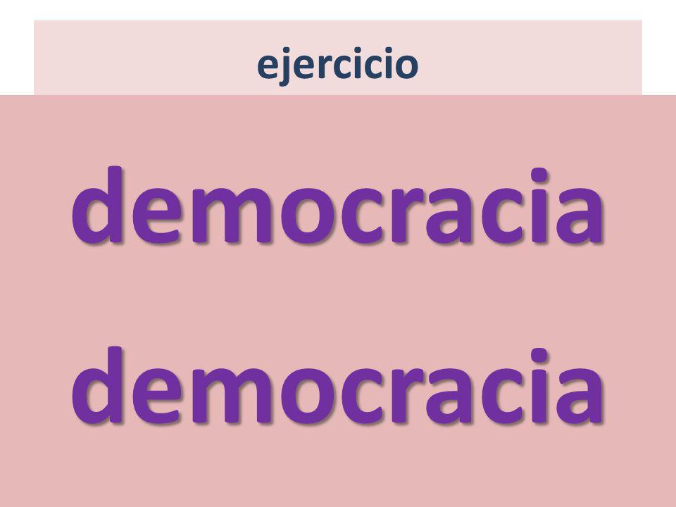 ejercicio democracia