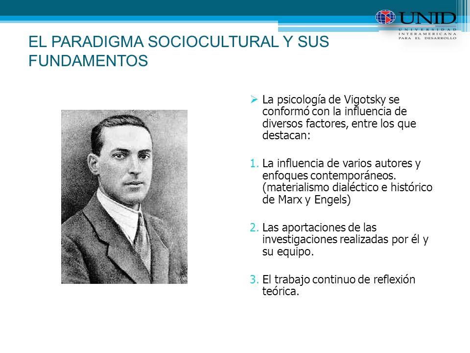 EL PARADIGMA SOCIOCULTURAL Y SUS FUNDAMENTOS