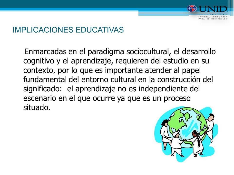 IMPLICACIONES EDUCATIVAS
