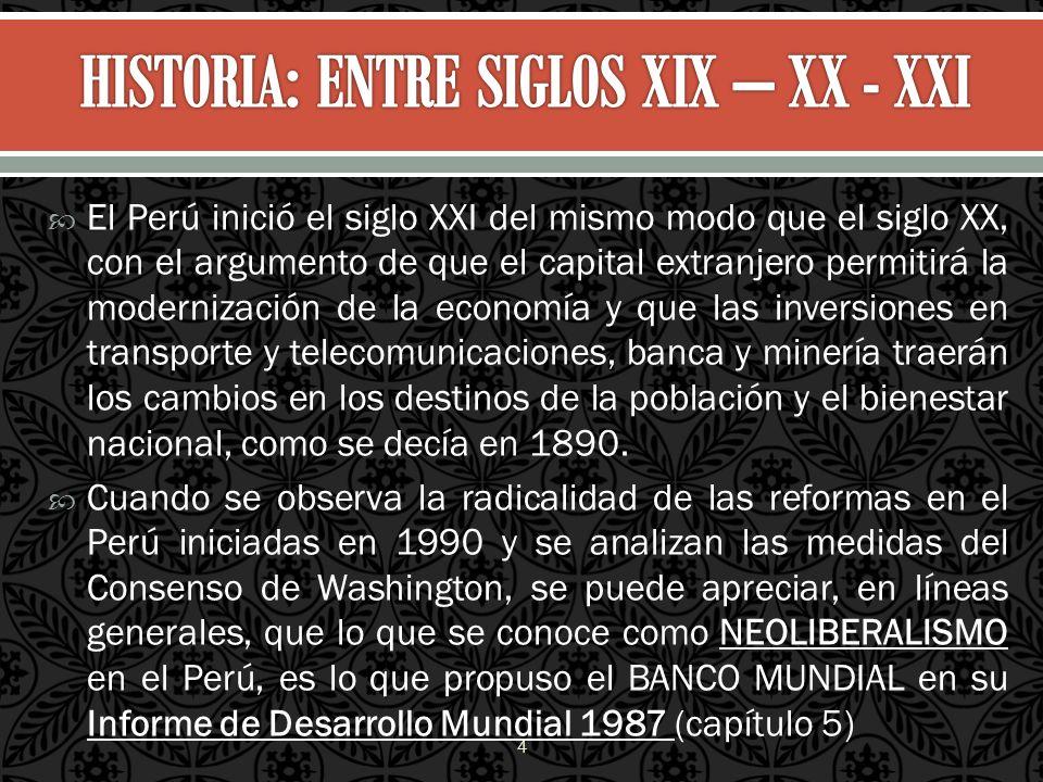 HISTORIA: ENTRE SIGLOS XIX – XX - XXI