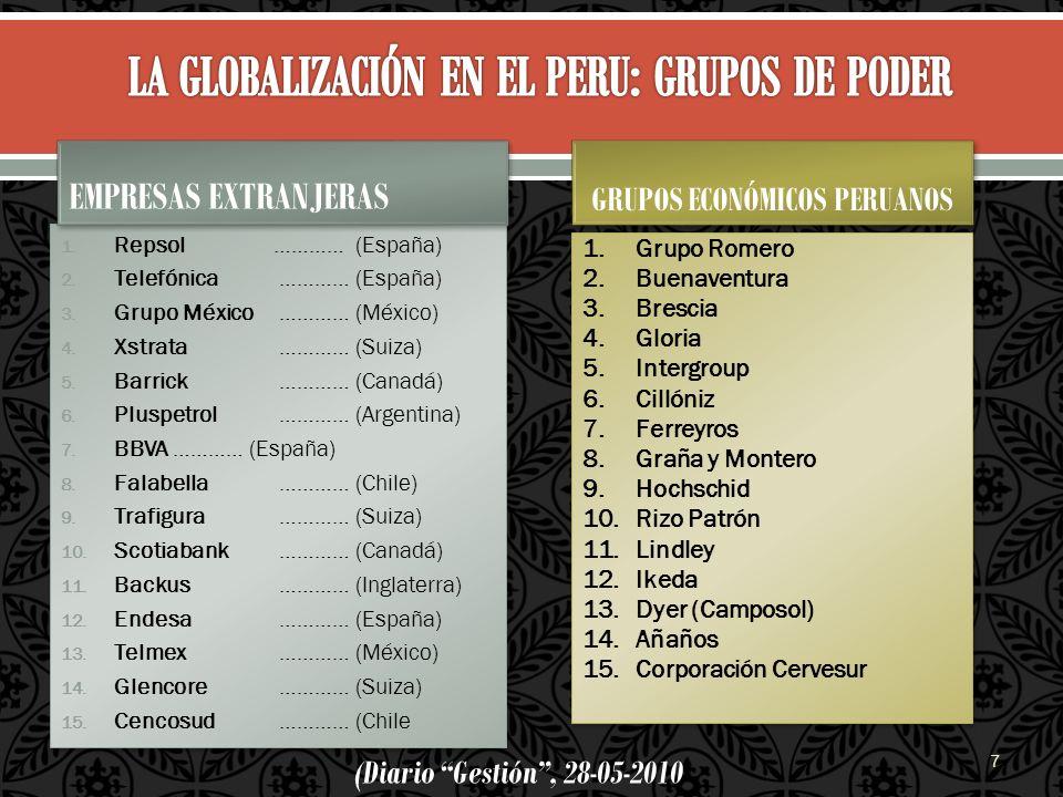 LA GLOBALIZACIÓN EN EL PERU: GRUPOS DE PODER