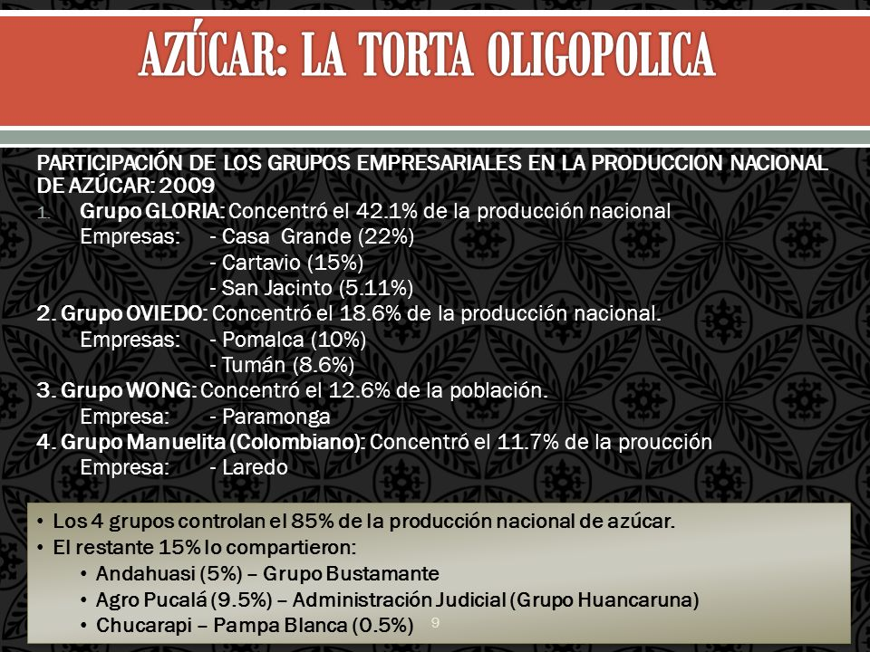 AZÚCAR: LA TORTA OLIGOPOLICA