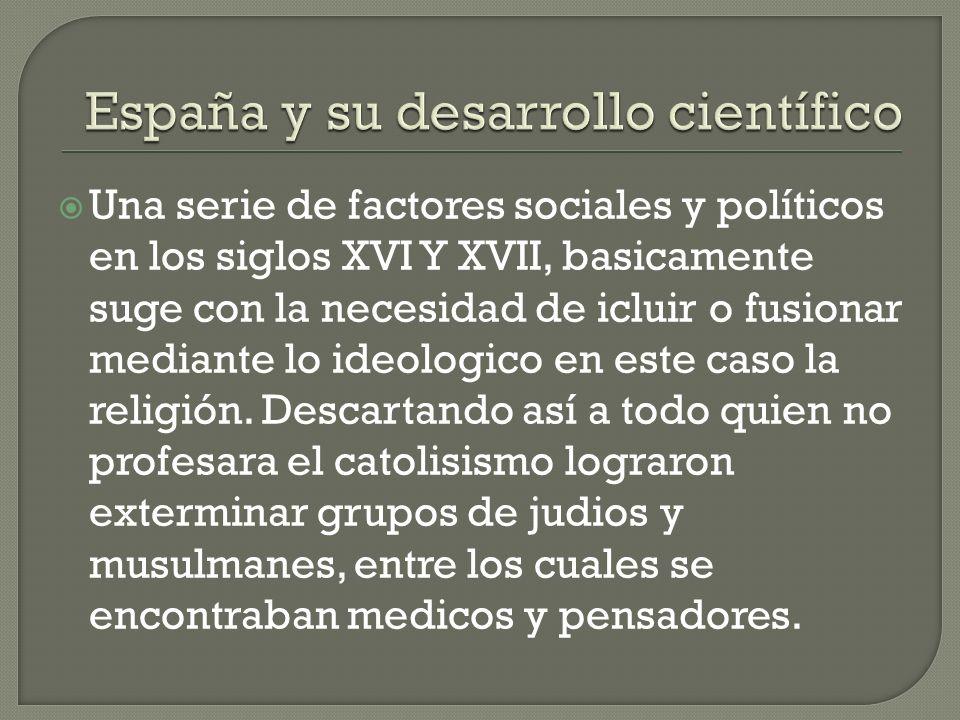 España y su desarrollo científico