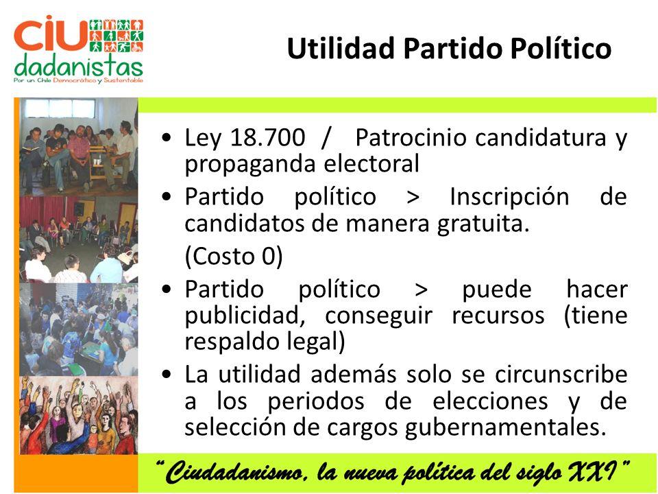 Utilidad Partido Político