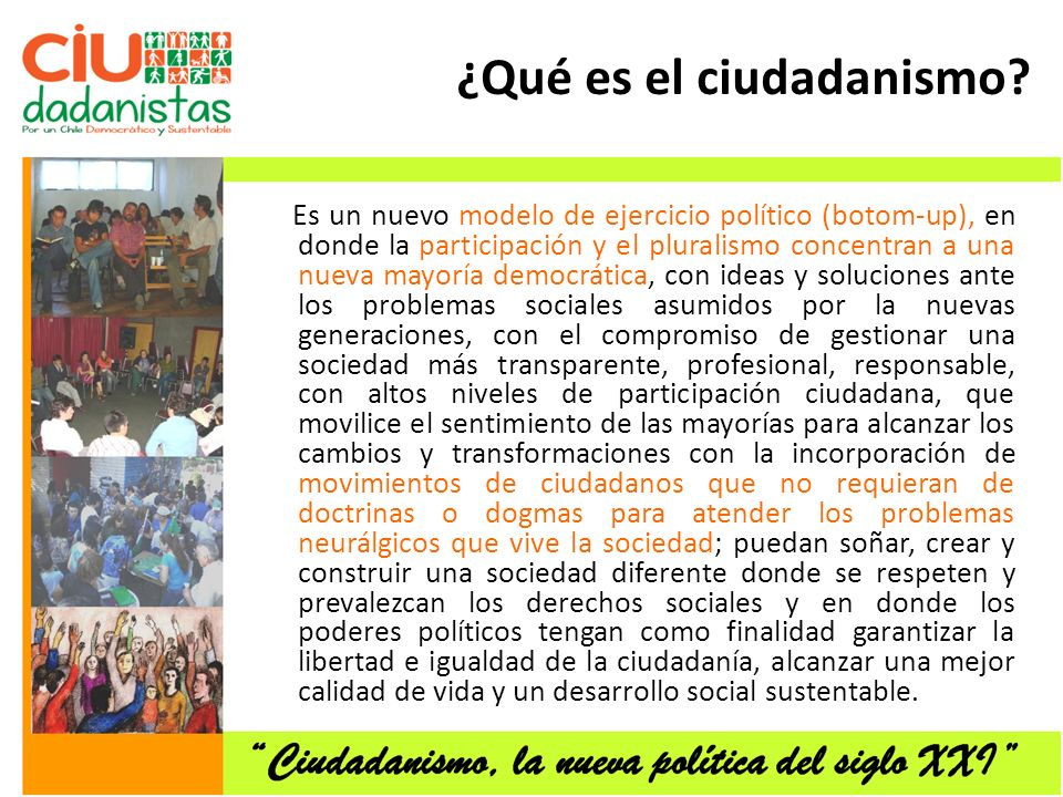 ¿Qué es el ciudadanismo