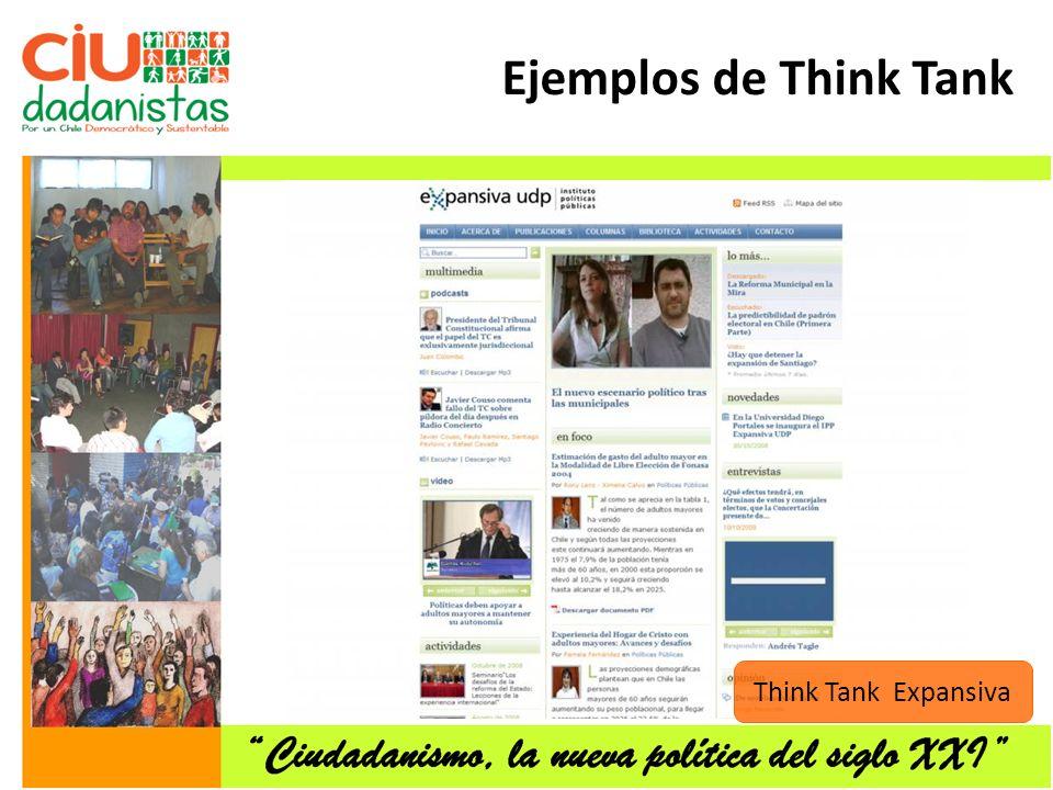 Ejemplos de Think Tank Think Tank Expansiva