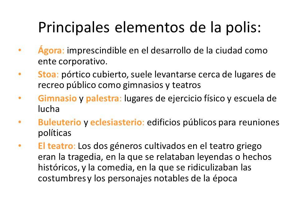 Principales elementos de la polis: