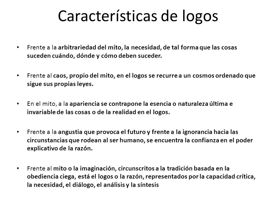 Características de logos