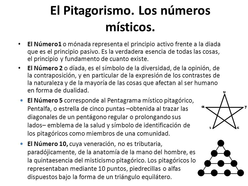 El Pitagorismo. Los números místicos.