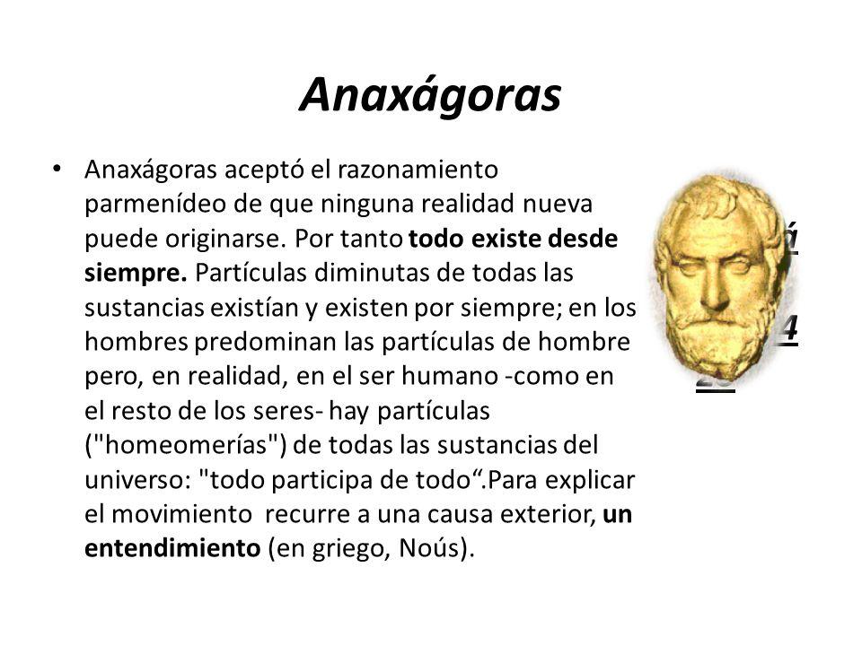 Anaxágoras Anaxágoras (500‑428