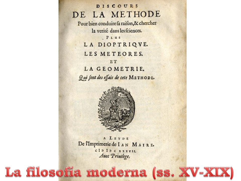 La filosofía moderna (ss. XV-XIX)