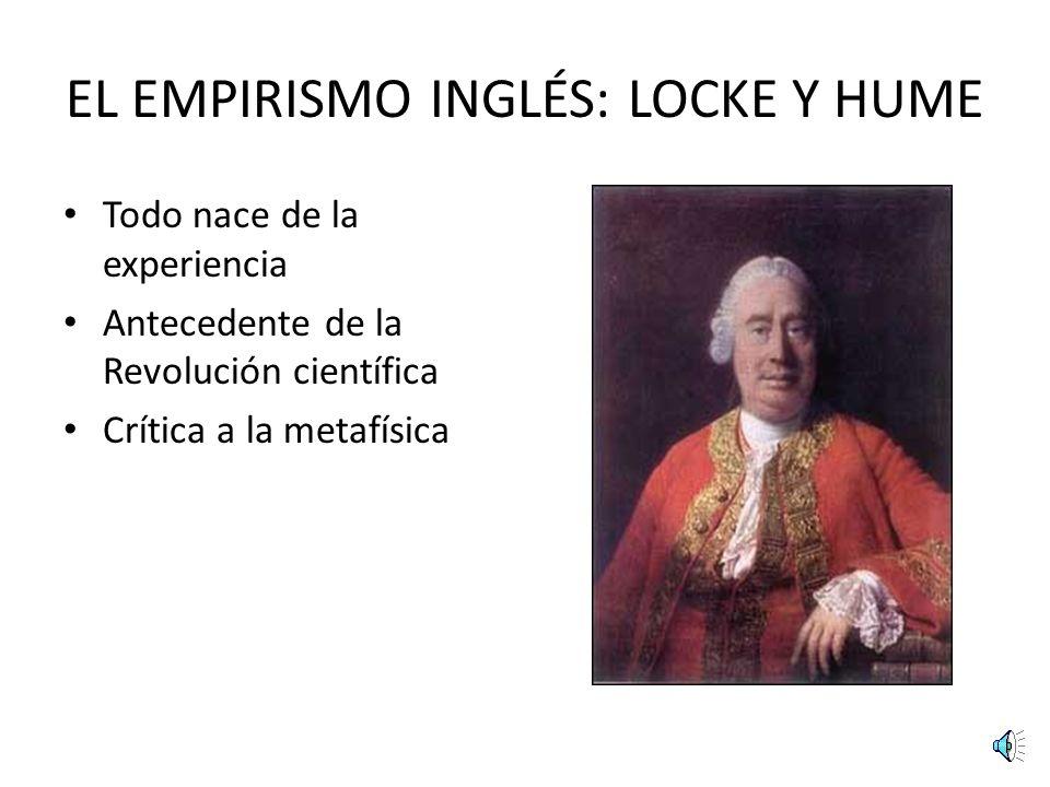 EL EMPIRISMO INGLÉS: LOCKE Y HUME