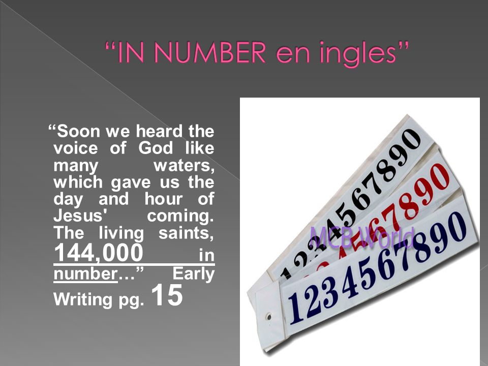 IN NUMBER en ingles
