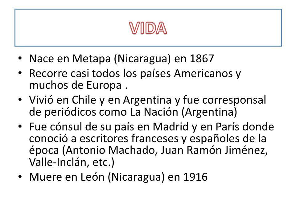 VIDA Nace en Metapa (Nicaragua) en 1867