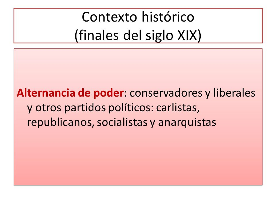 Contexto histórico (finales del siglo XIX)
