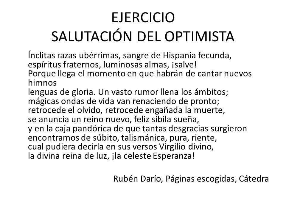 EJERCICIO SALUTACIÓN DEL OPTIMISTA