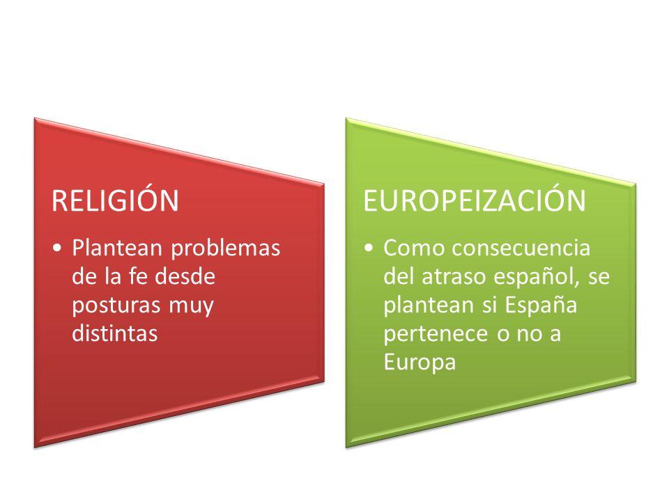 RELIGIÓN Plantean problemas de la fe desde posturas muy distintas. EUROPEIZACIÓN.