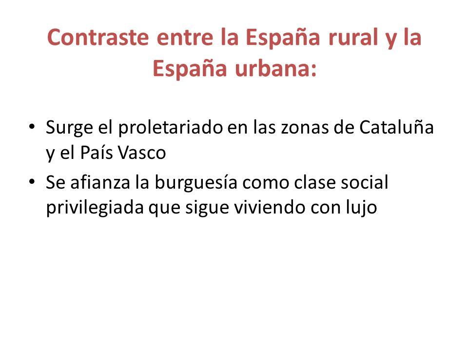 Contraste entre la España rural y la España urbana: