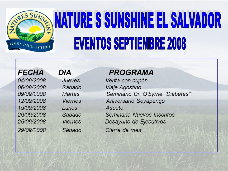 NATURE S SUNSHINE EL SALVADOR