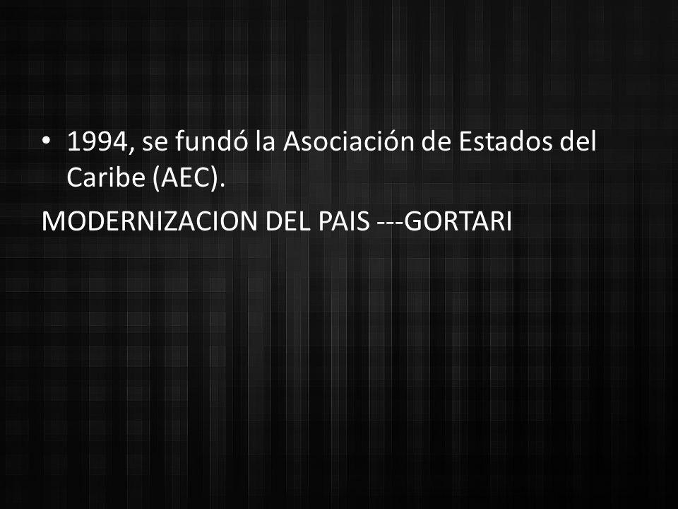 1994, se fundó la Asociación de Estados del Caribe (AEC).