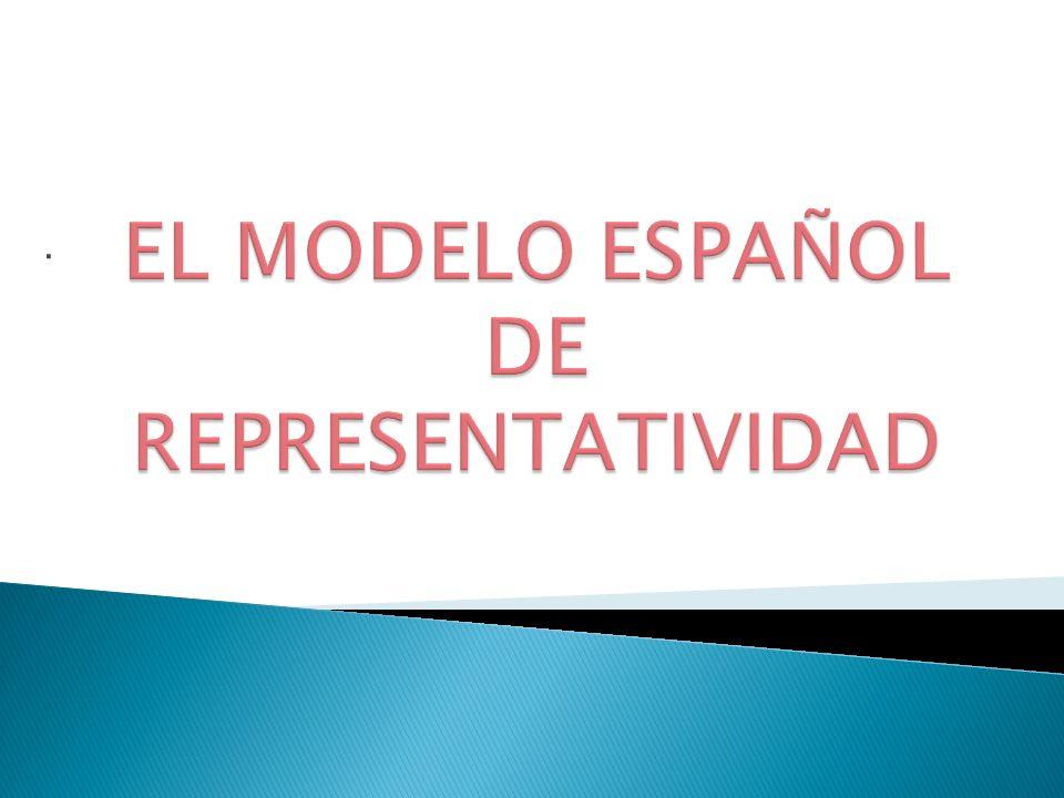 EL MODELO ESPAÑOL DE REPRESENTATIVIDAD