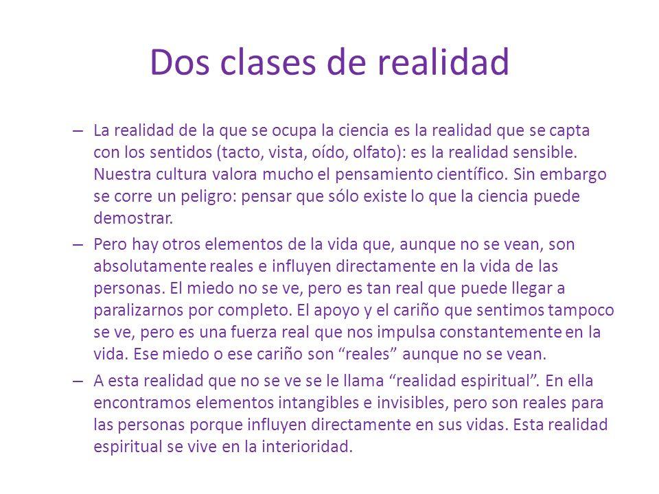 Dos clases de realidad