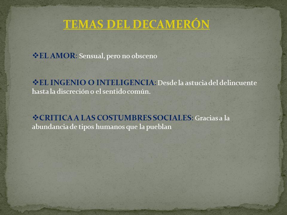 TEMAS DEL DECAMERÓN EL AMOR: Sensual, pero no obsceno