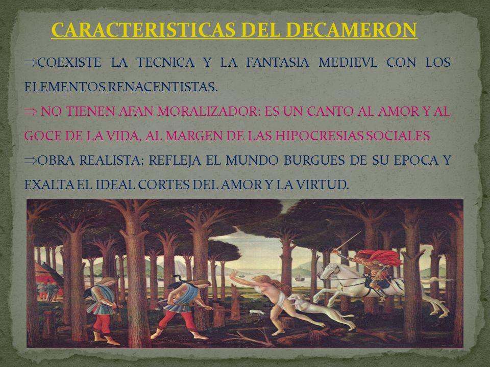 CARACTERISTICAS DEL DECAMERON