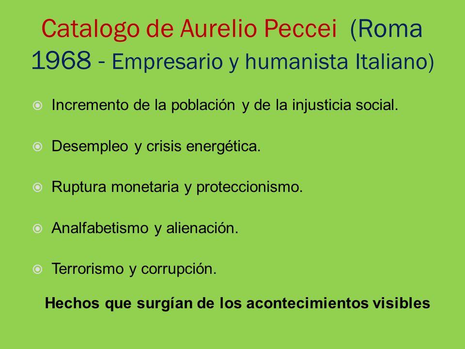 Catalogo de Aurelio Peccei (Roma 1968 - Empresario y humanista Italiano)