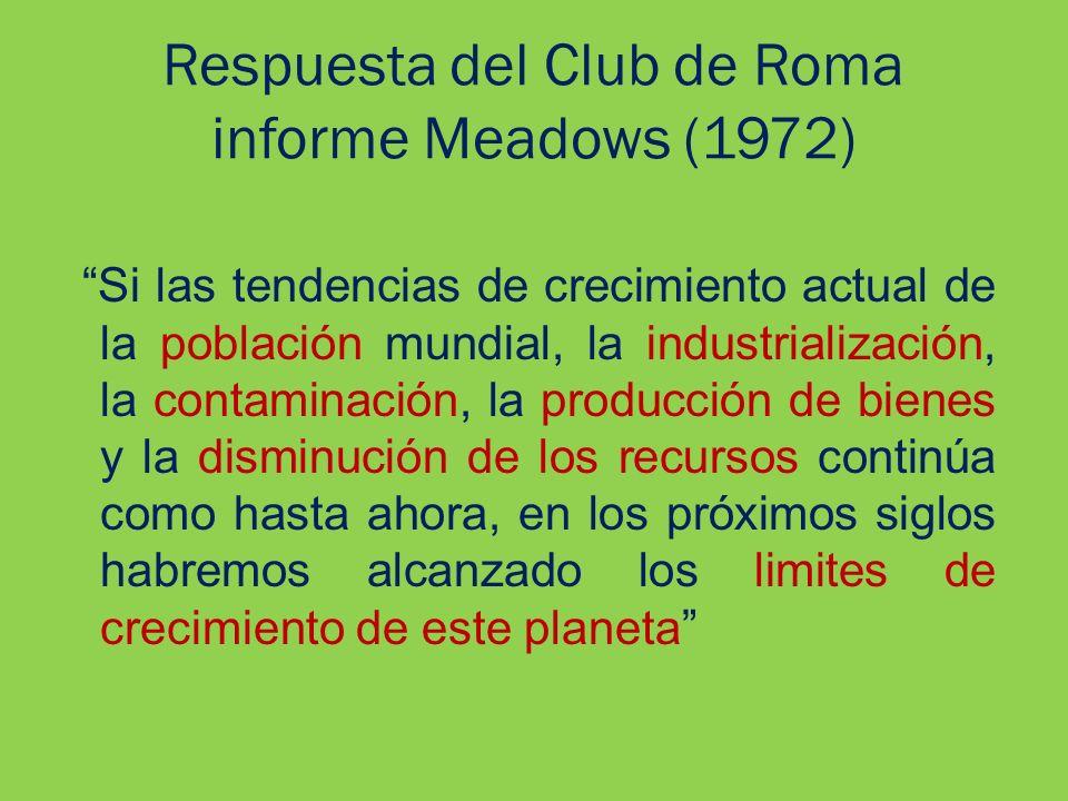 Respuesta del Club de Roma informe Meadows (1972)