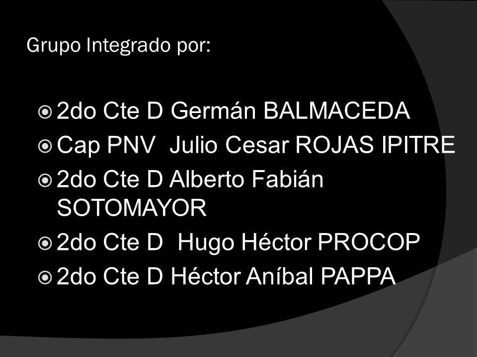 2do Cte D Germán BALMACEDA Cap PNV Julio Cesar ROJAS IPITRE