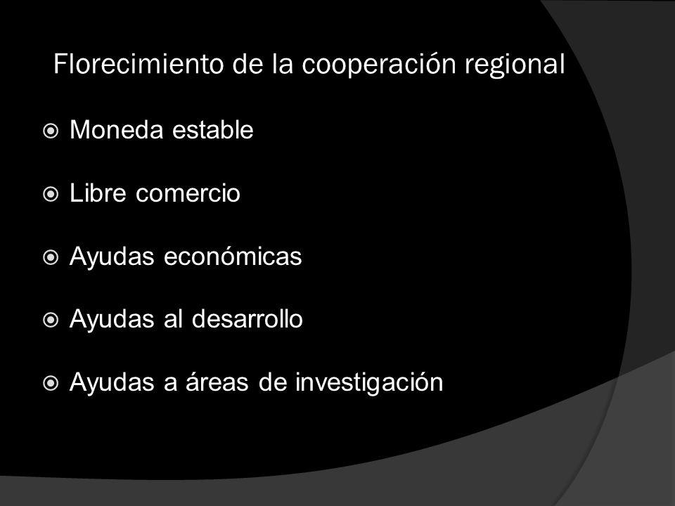 Florecimiento de la cooperación regional