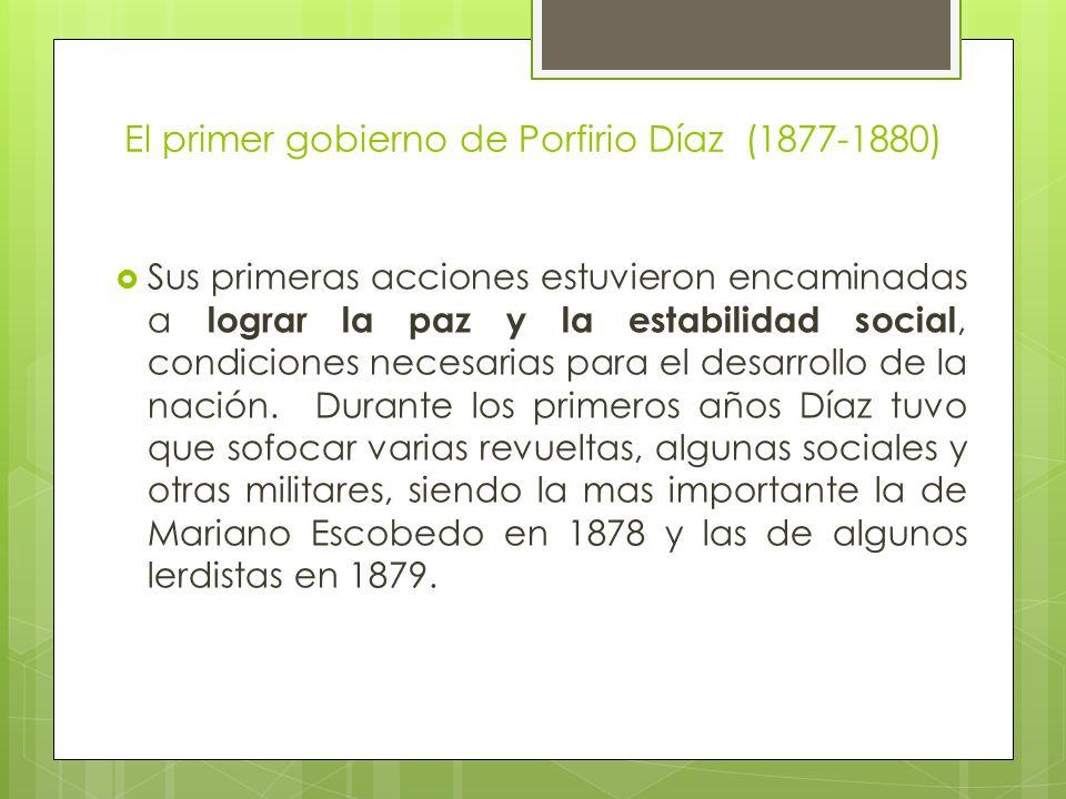El primer gobierno de Porfirio Díaz (1877-1880)