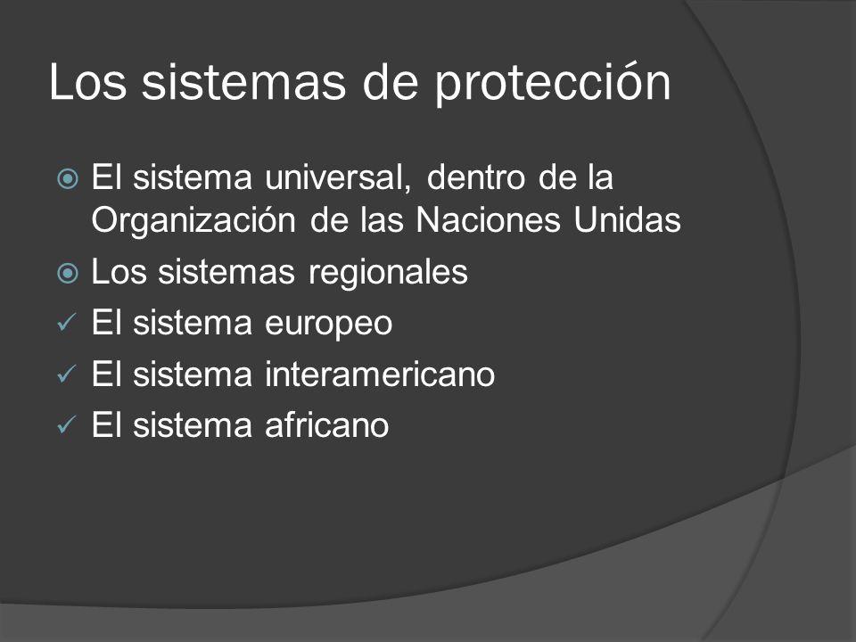 Los sistemas de protección