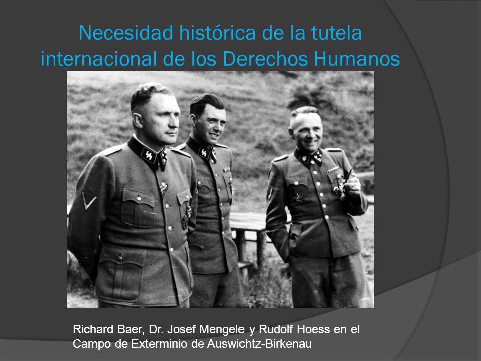 Necesidad histórica de la tutela internacional de los Derechos Humanos
