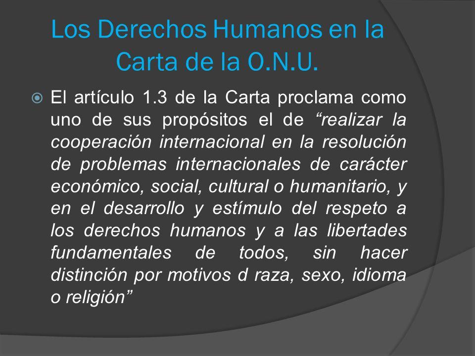 Los Derechos Humanos en la Carta de la O.N.U.