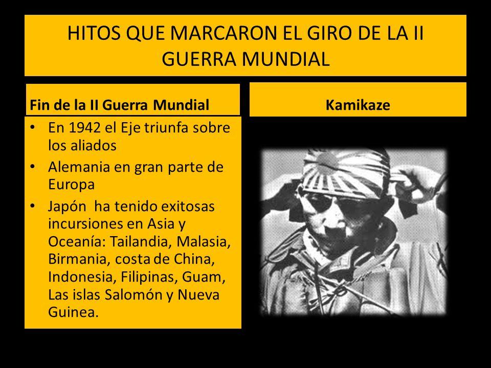 HITOS QUE MARCARON EL GIRO DE LA II GUERRA MUNDIAL