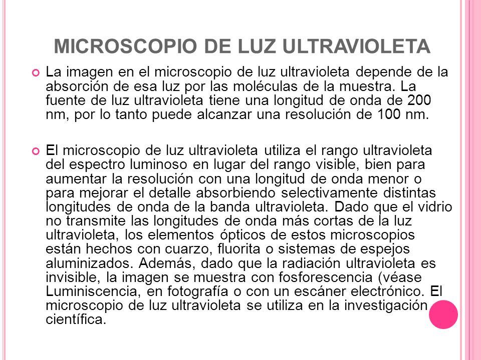 MICROSCOPIO DE LUZ ULTRAVIOLETA