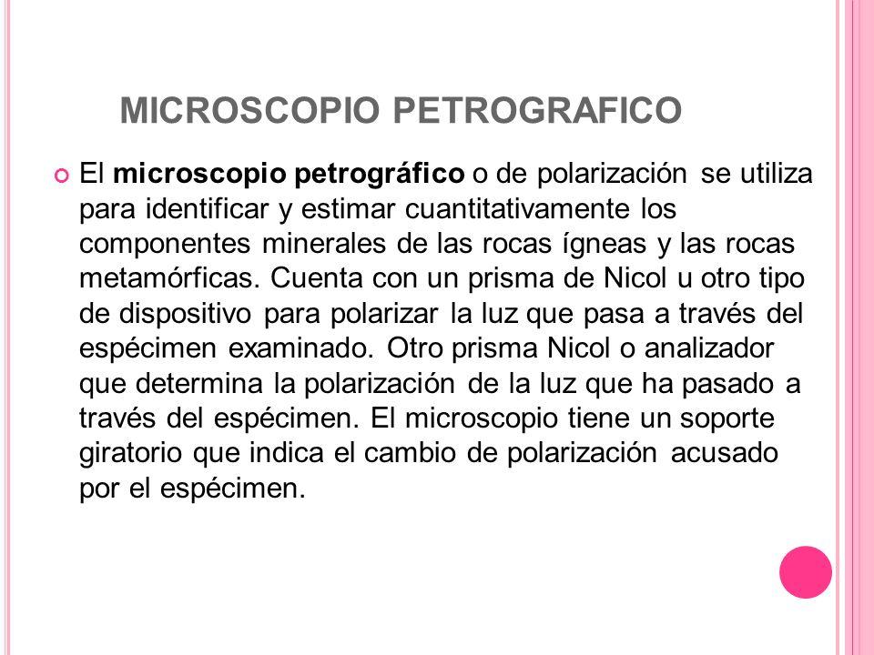 MICROSCOPIO PETROGRAFICO