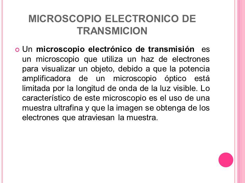 MICROSCOPIO ELECTRONICO DE TRANSMICION
