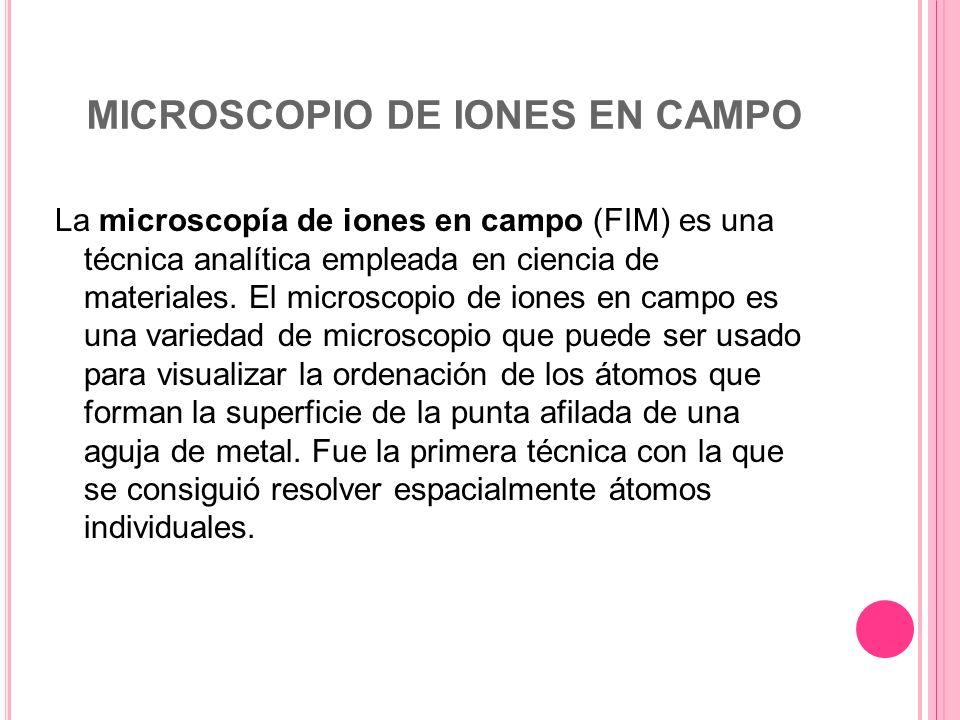 MICROSCOPIO DE IONES EN CAMPO