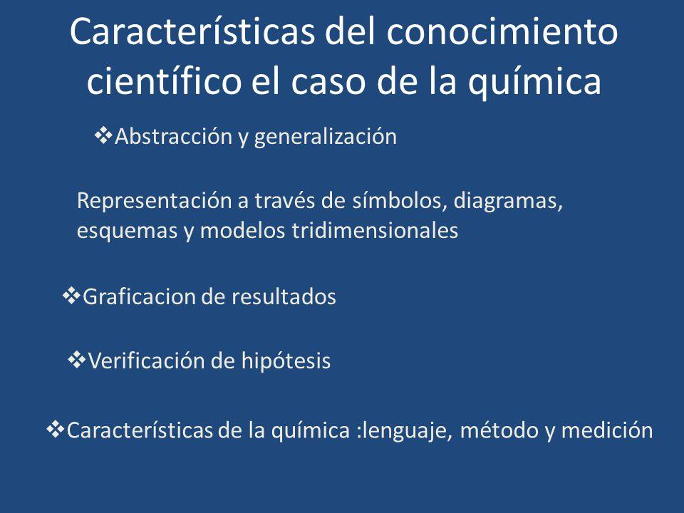 Características del conocimiento científico el caso de la química