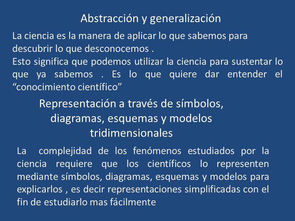 Abstracción y generalización