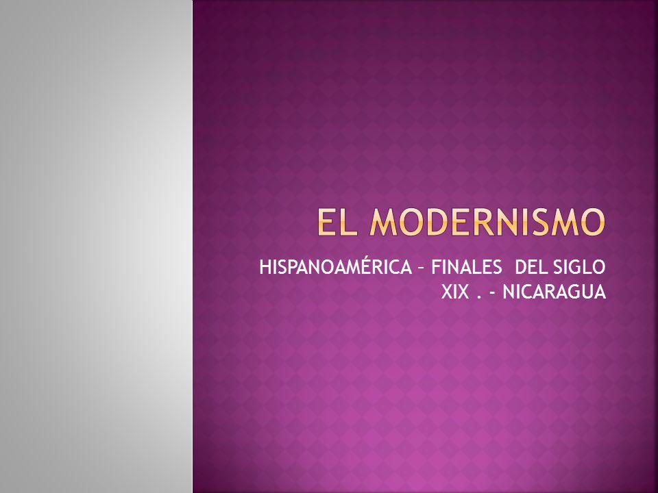 HISPANOAMÉRICA – FINALES DEL SIGLO XIX . - NICARAGUA