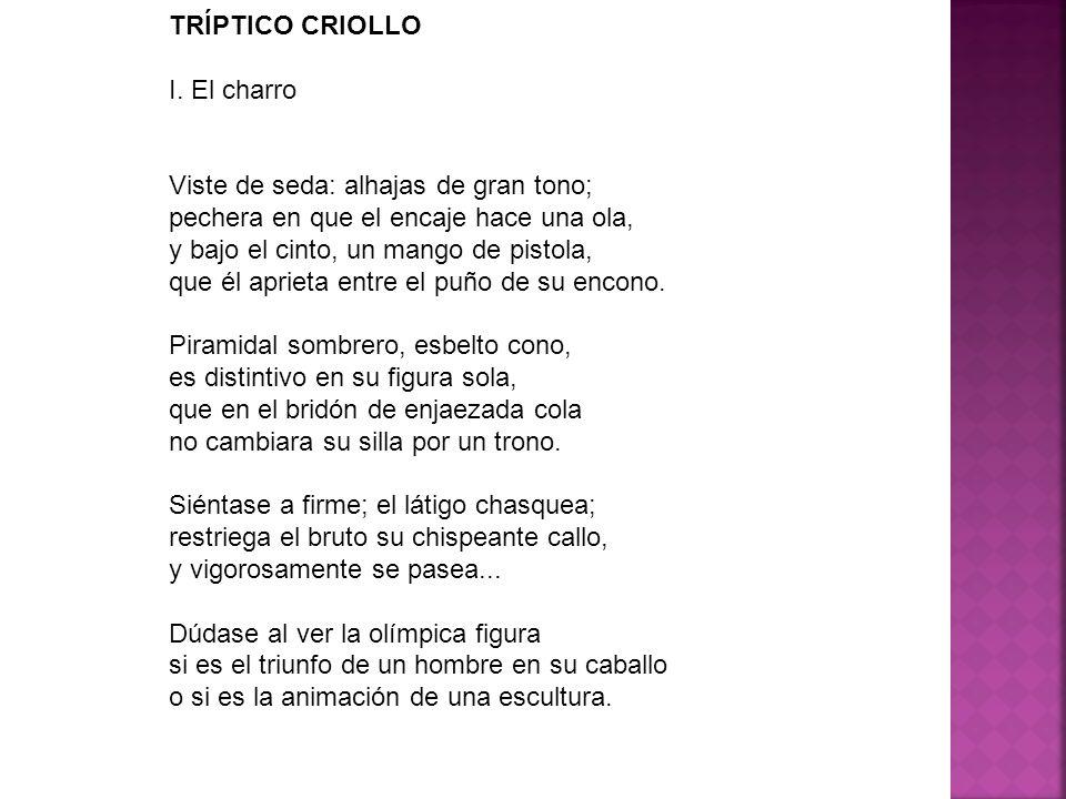 TRÍPTICO CRIOLLO I.